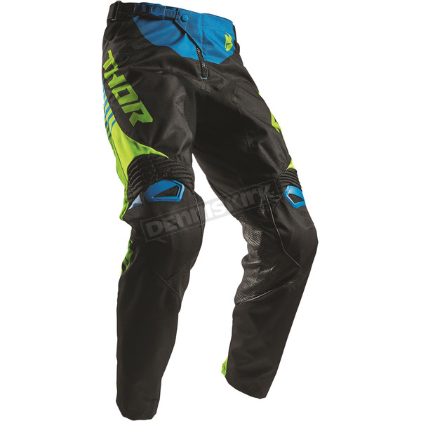 Thor Black/Lime Fuse Propel Pants - 2901-6294