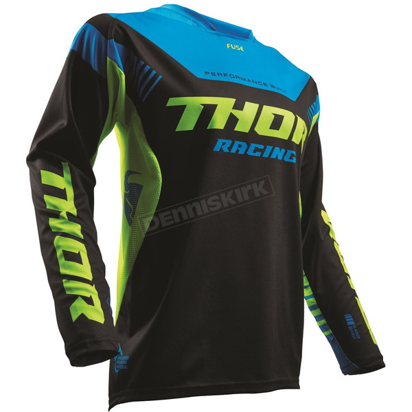 Thor Black/Lime Fuse Propel Jersey - 2910-4234
