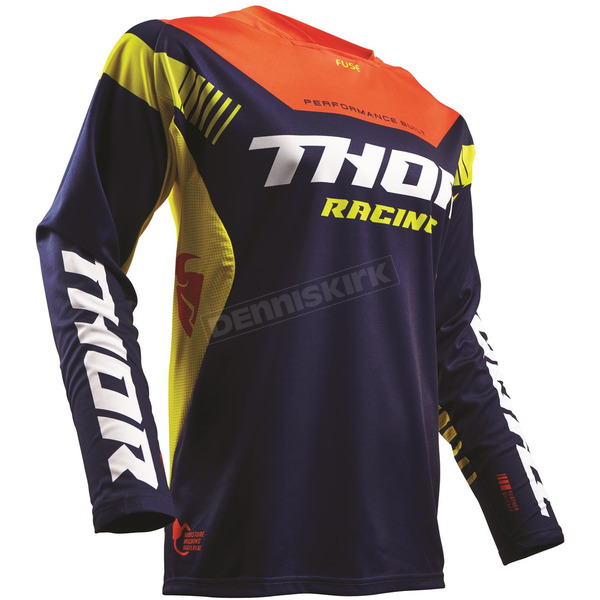 Thor Navy/Red/Orange Fuse Propel Jersey - 2910-4242