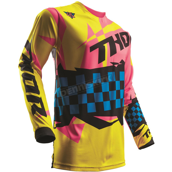 Thor Yellow/Pink Pulse Louda Jersey  - 2910-4265
