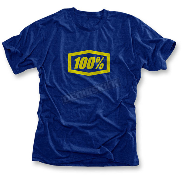 100% Youth Heather Blue Essential T-Shirt  - 34016-002-05