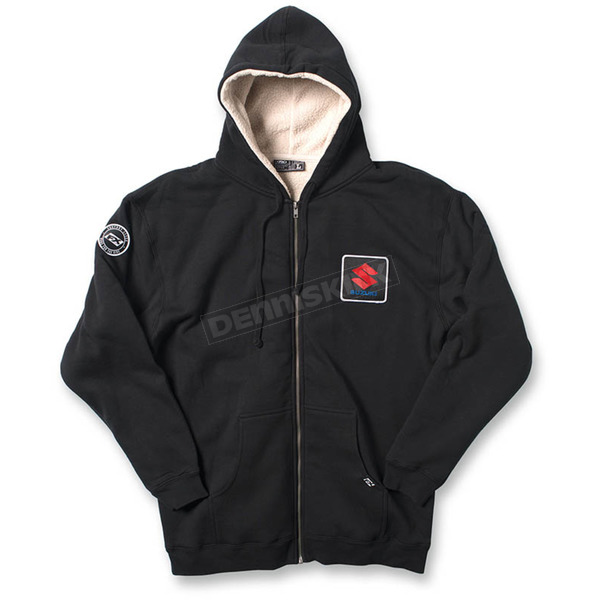 Factory Effex Black Suzuki Zip-Up Sherpa Hoody - 20-88422