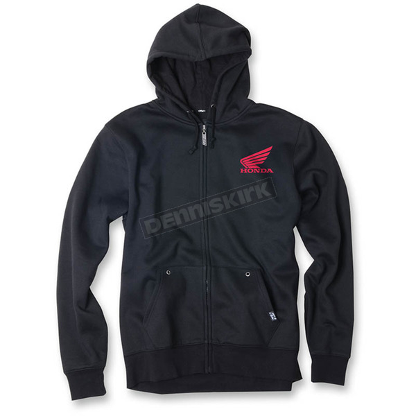 Factory Effex Black Honda Ride Red Moto Zip-Up Hoody - 20-88308