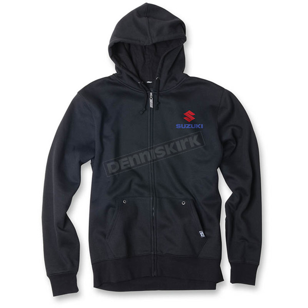 Factory Effex Black Suzuki Sun Zip-Up Hoody - 20-88402