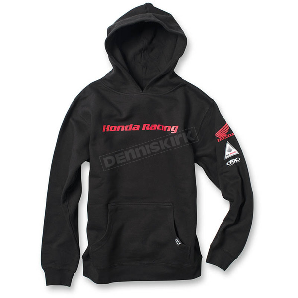 Factory Effex Youth Black Honda Racing Pullover Hoody - 19-83332
