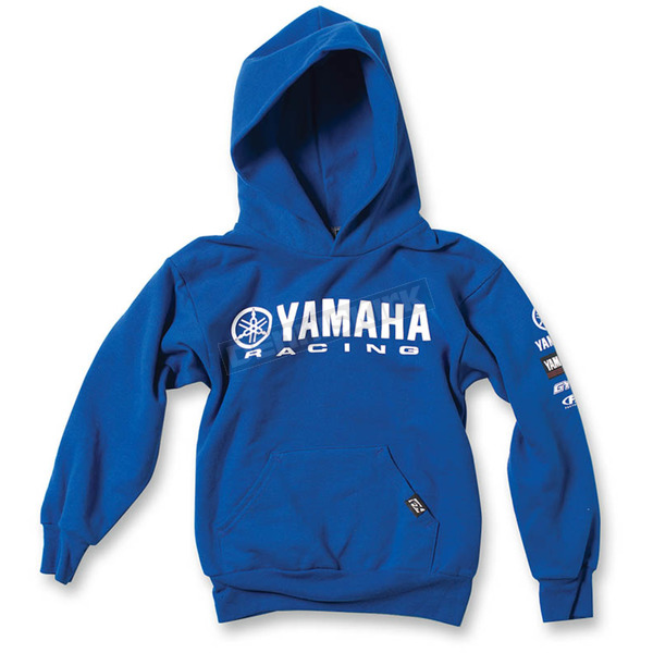 Factory Effex Youth Royal Blue Yamaha Racing Pullover Hoody - 19-83234
