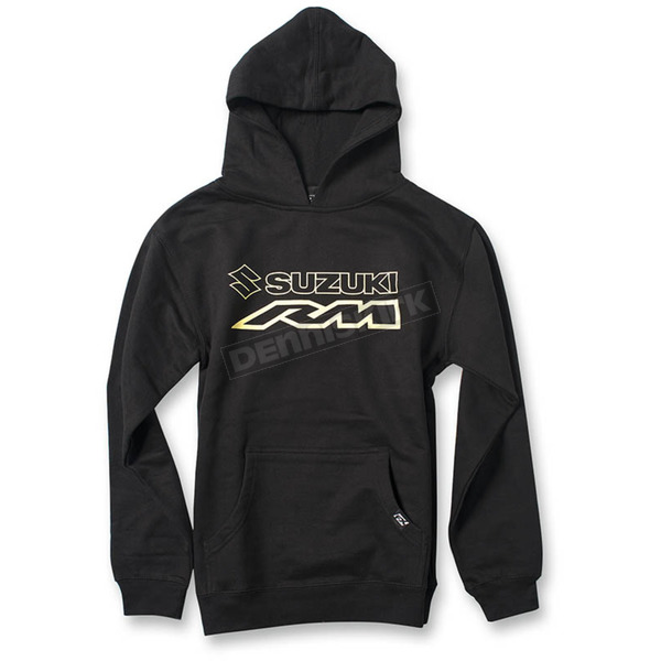 Factory Effex Youth Black Suzuki RM Pullover Hoody - 19-83434