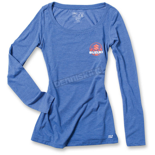 Factory Effex Women's Royal Blue Suzuki Sun Long Sleeve Shirt - 20-87410