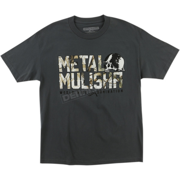 Metal Mulisha Charcoal Gray Realtree Chill T-Shirt  - FA6518005CHAL
