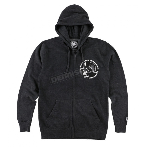 Metal Mulisha Charcoal Gray Smash Hooded Zip-Up - FA6522002CHHM