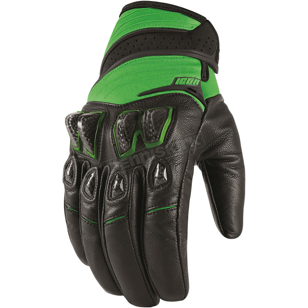 Icon Green Konflict Gloves - 3301-2940