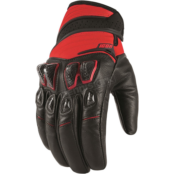 Icon Red Konflict Gloves - 3301-2947