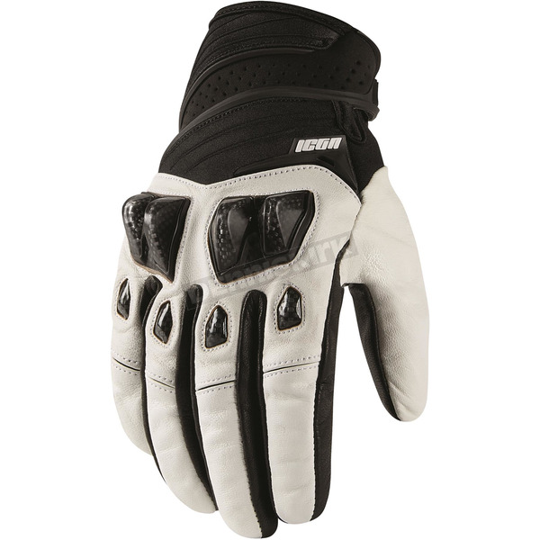 Icon White Konflict Gloves - 3301-2953