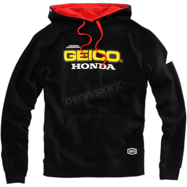 100% Geico Honda Base Fleece Hoody - 36900-001-12