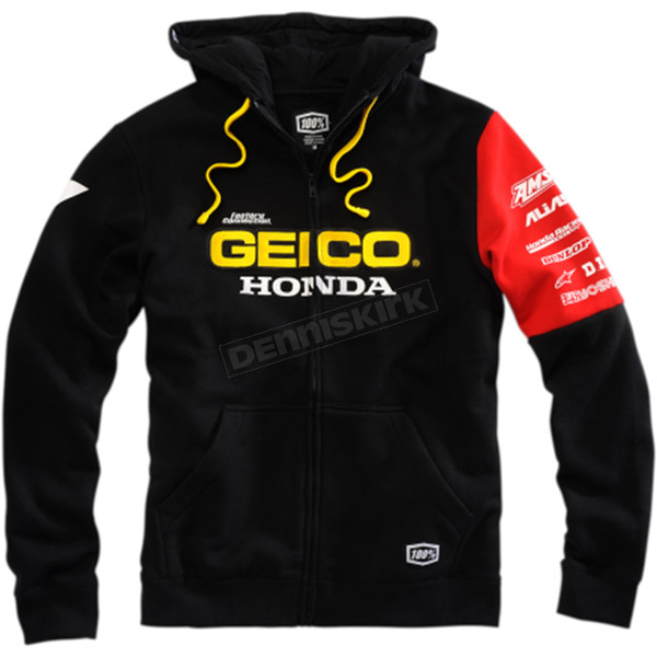 100% Geico Honda Factory Fleece Hoody - 36901-001-10