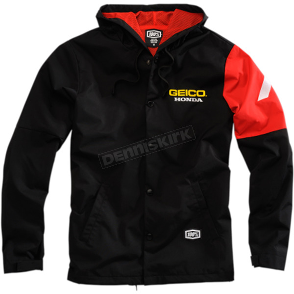 100% Geico Honda Flux Hooded Jacket - 39900-001-13