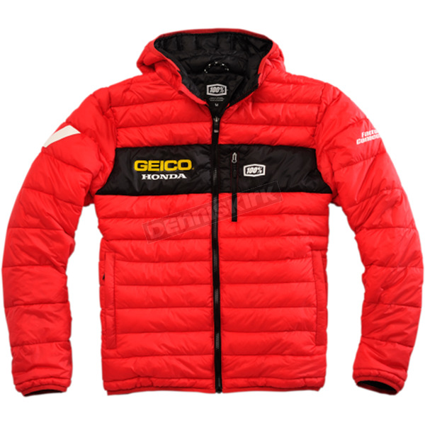 100% Geico Honda Mode Hooded Puffer Jacket - 39902-003-12