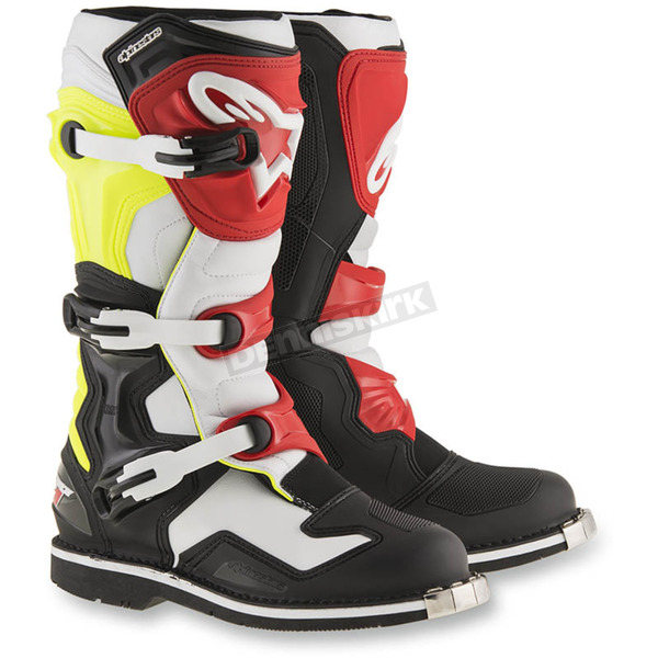 Alpinestars Black/White/Yellow Tech 1 Boots - 2016016-1053-12