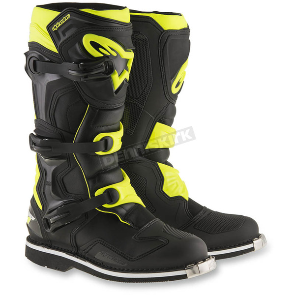 Alpinestars Black/Yellow Tech 1 Boots - 2016016-155-7
