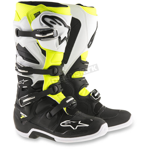 Alpinestars Black/White/Yellow Tech 7 Boots - 2012014-125-12