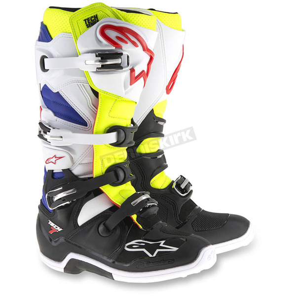 Alpinestars White/Yellow/Black Tech 7 Boots - 2012014-257-9