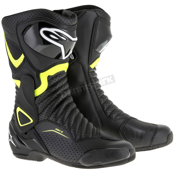 Alpinestars Black/Yellow SMX 6 V2 Vented Boot - 2223017-1550-47