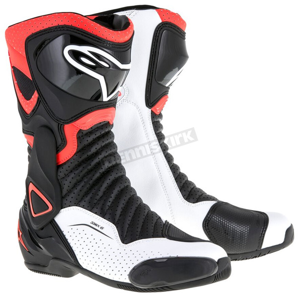 Alpinestars Black/Red/White SMX 6 V2 Vented Boot - 2223017-1320-42