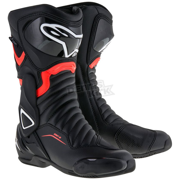 Alpinestars Black/Red SMX 6 V2 Drystar Boot - 2243017-1030-42