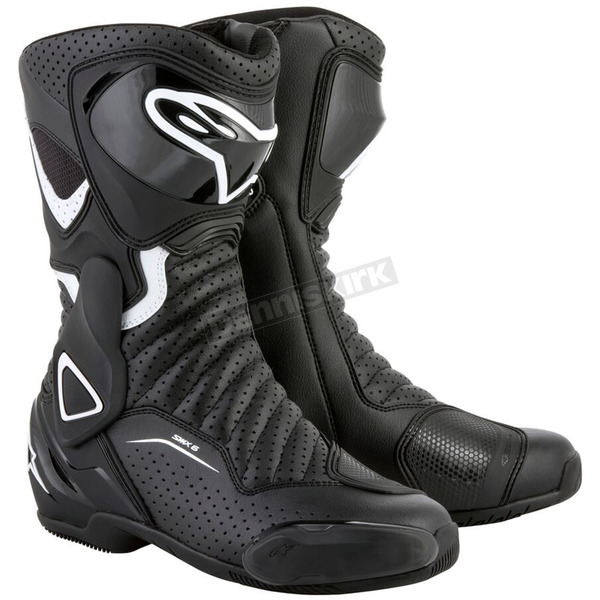 Alpinestars Black/White Stella SMX-6 v2 Women's Vented Boot - 2223117-122-41