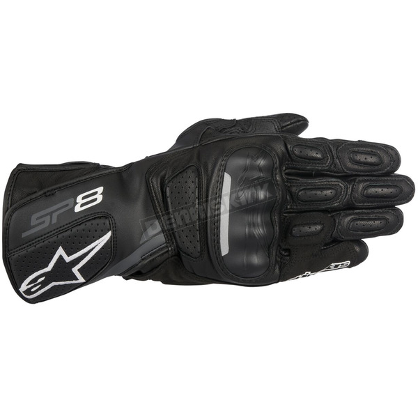 Alpinestars Black/Dark Gray SP-8 v2 Leather Gloves - 3558317-111-M