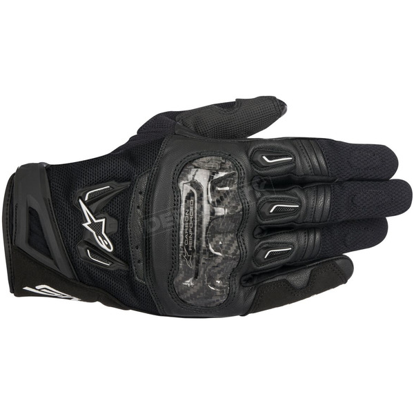 Alpinestars Black SMX-2 Air Carbon v2 Leather Gloves - 3567717-10-S