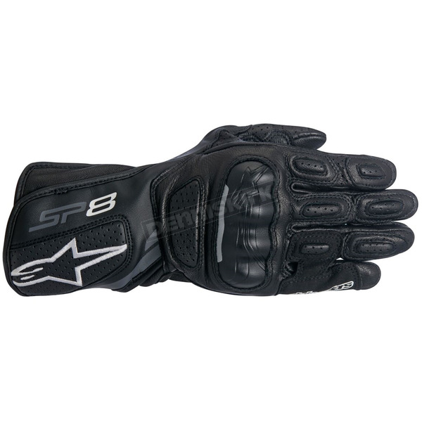 Alpinestars Black/Dark Gray Stella SP-8 v2 Women's Gloves - 3518317-111-XL