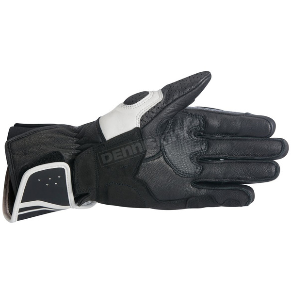Alpinestars Black/White Stella SP-8 v2 Women's Gloves - 3518317-12-L