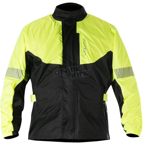 Alpinestars Fluorescent Yellow/Black Hurricane Rain Jacket  - 3204617-551-2X