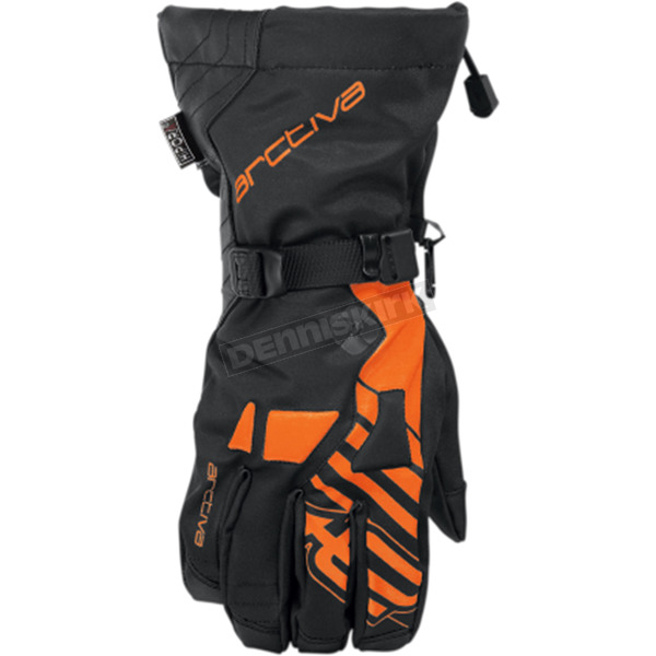 Arctiva Black/Orange Ravine Gloves - 3340-1190