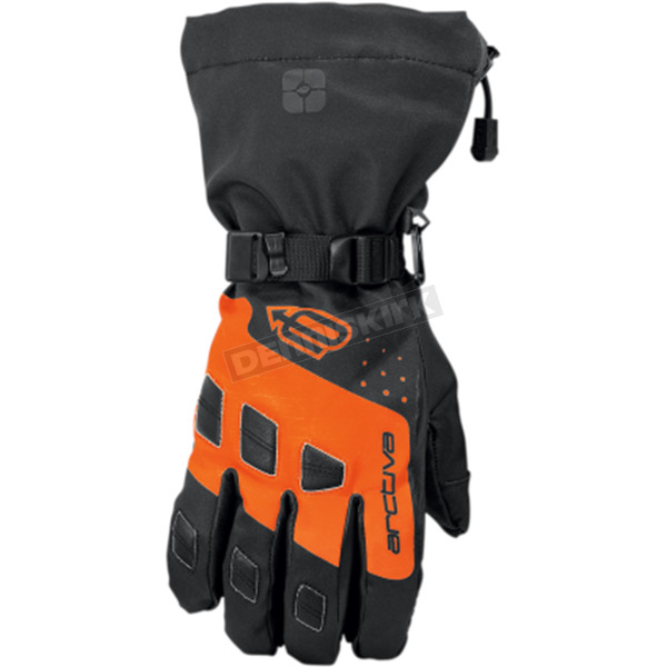 Arctiva Black/Orange Quest Gloves  - 3340-1222