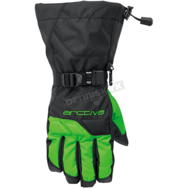 Arctiva Black/Green Pivot Gloves  - 3340-1264