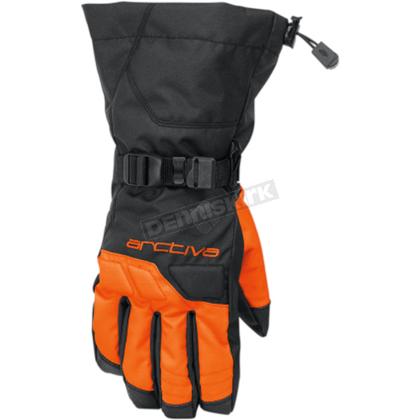 Arctiva Black/Orange Pivot Gloves - 3340-1270
