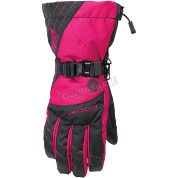 Arctiva Women's Black/Pink Pivot Gloves - 3341-0379