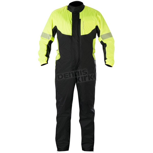 Alpinestars Fluorescent Yellow/Black Hurricane Rain Suit  - 3264617-551-2X