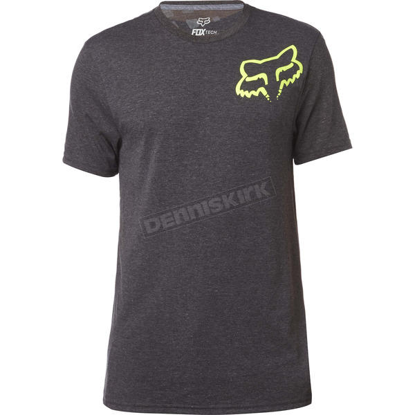 Fox Heather Black Grav Back TruDri Tech T-Shirt - 19246-243-XL