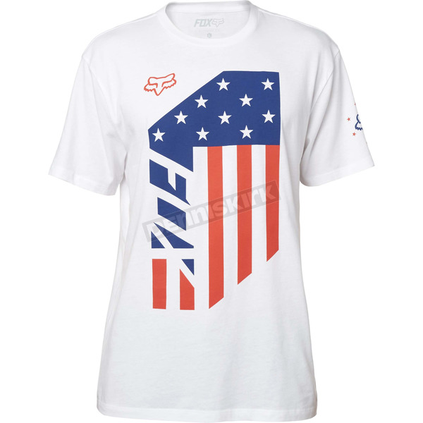 Fox Optic White Red,White and True T-Shirt - 19236-190-M
