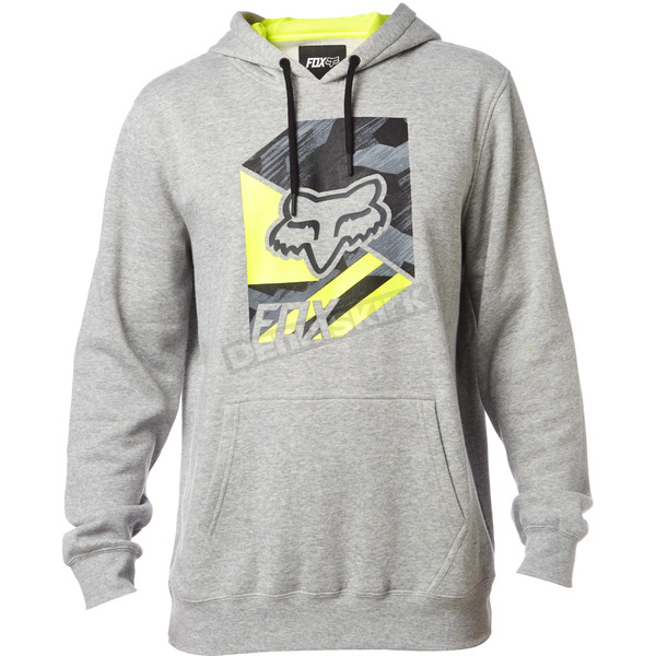 Fox Heather Gray Geo Cube Pullover Hoody - 19216-040-L
