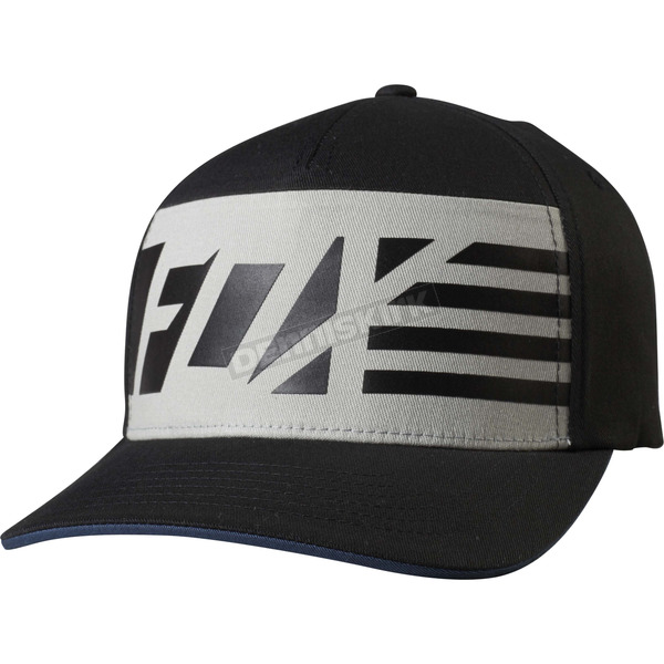 Fox Black Red, White And True FlexFit Hat - 19191-001-S/M