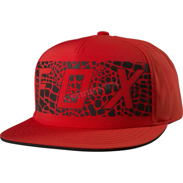 Fox Flame Red Grav Snapback Hat - 19201-122-OS