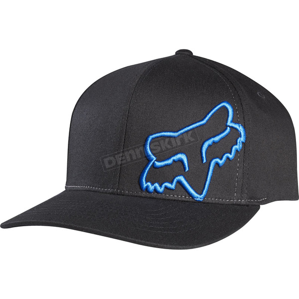 Fox Black/Blue Flex 45 FlexFit Hat - 58379-013-L/XL