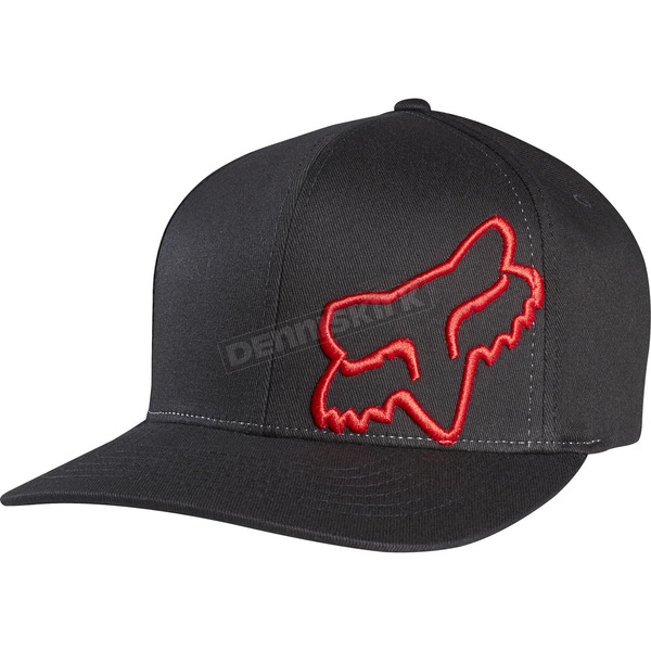 Fox Black/Red Flex 45 FlexFit Hat - 58379-017-L/XL