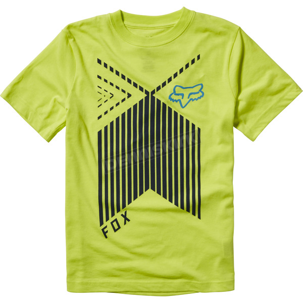 Fox Youth Flo Yellow Rainwater T-Shirt - 18572-130-YM