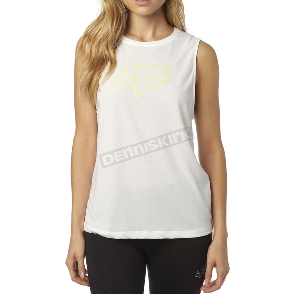 Fox Women's White Enduro Muscle Tank - 18559-008-XS