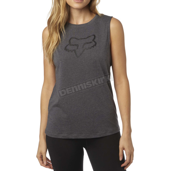 Fox Women's Heather Gray Enduro Muscle Tank - 18559-040-M